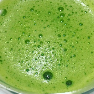 distinctly organic matcha froth