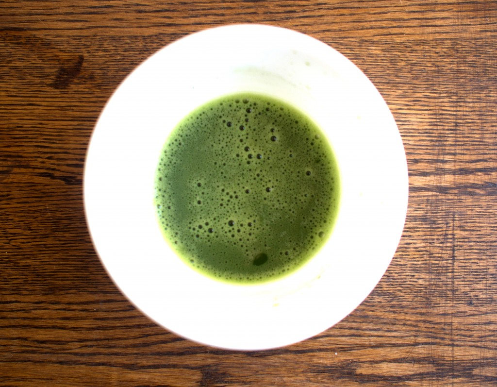 Matcha tea in bowl
